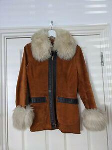 Rare 70s Penny Lane Suede Coat