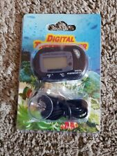 New listing Lcd Digital Fish Aquarium Thermometer Water Terrarium Black Free Extra Batteries