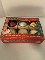 (6)- Vintage Shiny Brite  Glass Christmas Ornaments Max Eckardt & Sons 2148-1