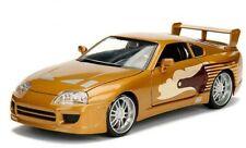 Jada 1/24 Druckguss Slap JACKS Gold 1995 Toyota Supra Turbo 2 Schnell 2 Furious