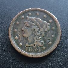 USA 1854 large cent Matron Head Liberty error CUD One cents cuivre rare 2231