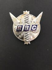 BBC Radio TV Enamel Badge British Broadcasting Company Television