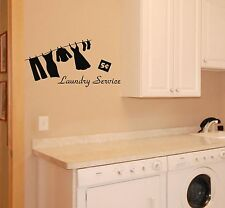 Laundry Room Wall Decal removable sticker service mural decor words quote art