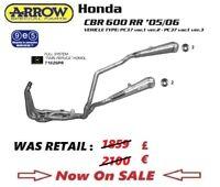 Honda CBR600RR 05 06 2005 2006 exhaust full system s/steel ARROW twin replica