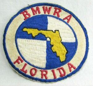 Vtg BMW Motorcycle Riders Association Florida Jacket Patch British Motor Works