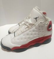 "Nike Air Jordan 13 XIII Retro BG GS Size 7Y ""Cherry"" White Red Black 414574-122"