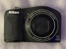 Nikon CoolPix L610 Digital Camera 16MP, 14x Wide Zoom Full HD - Black - Tested