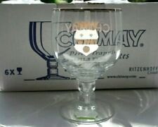 ♦ VERRE A BIERE CHIMAY LOGO BLANC  / BEER GLASS CHIMAY BELGIUM WHITE GRAPHISM ♦