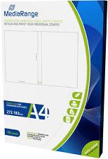 50 MediaRange DVD 14mm Case Einleger Insert Inlay bedruckbar weiß matt