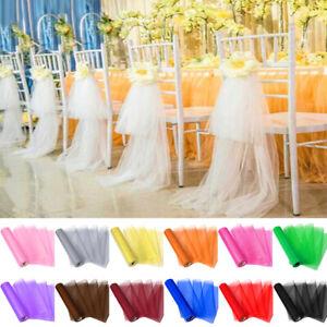 "11"" Wide x 28 yards Organza Roll Fabric Wedding Chair Sashes Ribbon Party Decor"