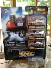 Back to the Future 1, 2 & 3 Nano Hollywood Rides Jada Delorean Die Cast Cars Set
