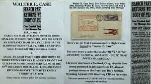 WWI ARMY PILOT AIRMAIL AVIATION PIONEER KILLED CRASH MOUNT BALDY WA SIGNED COVER
