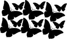 12 butterflies different sizes vinyl wall decal