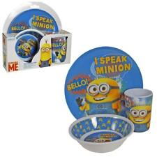 Children's Melamine Breakfast Set Plate Bowl Cup Set - Despicable Me Minions