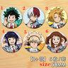 """Anime Boku no Hero Academia badges Pins Schoolbag 5.8CM(2.3"""") cosplay"""