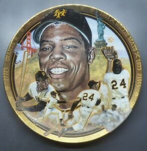 "1992 SPORTS IMPRESSIONS 6"" COLLECTORS PLATE WILLIE MAYS NY SAN FRANCISCO GIANTS"