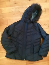 PER UNA DUCK DOWN gilled Jacket M /Forest Green