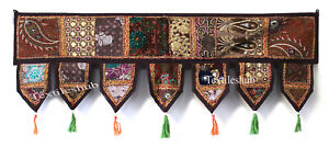 Indian Vintage Patchwork Embroidery Toran Door Valance Wall Hanging Home Decor