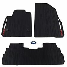 2017-2019 GMC Acadia Front 2nd /& 3rd Row 6 Pass All Weather Floor Mats Black