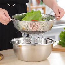 Stainless Steel Mesh Net Food Rice Strainer Colander Basket with Rim Kitchen