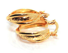 Fabulous Creole Earring Women Fashion Yellow Gold Plated Twisted Hoop Latest New