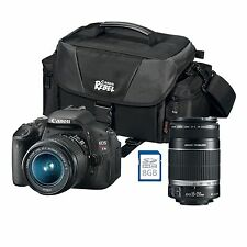 Canon Rebel T3i (EOS 600D / Kiss X5), Canon 18-55mm & 55-250mm lens, bag, SD car