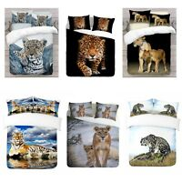 UK Made 3D Lions Design Photo Digital Duvet Quilt Cover With Pillowcases