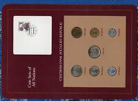 Coin Sets of All Nations Czechoslovakia 1969-1986 UNC 5 Korun 1982 2 Korun 1986