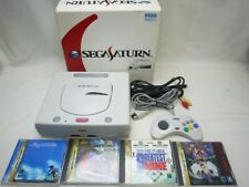 SEGA SATURN HST-0019 Console HST-3220 White GAME SYSTEM BOX with game RARE Japan