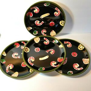 Wolfgang Puck Live Love Eat Shrimp and Tomato Dinner Plates Set of 4