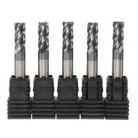 5pcs 6mm x 50mm Tungsten Carbide 4 Flute End Mill CNC Milling Cutter TIALN