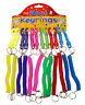 5x Stretchy Spiral Retractable Keychains Keyrings Belt Clip Key Party Bag Gift