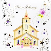Easter Blessings Religious Easter Greeting Card Handmade Talking Pictures Cards