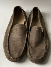 UGG Driving Loafers Mens Size 11 Brown  Leather Slip On Shoes Moccasin EUC