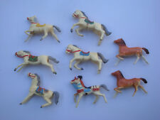 Lot 8 chevaux cyrnos pour cavaliers far west indien cow boy moyen age