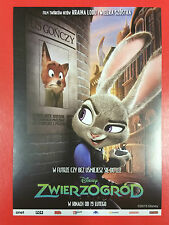 Byron Howard Rich Moore Disney Judy Hopps - ZOOTOPIA - Polish promo FLYER