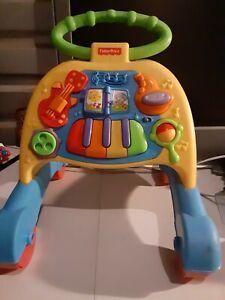 Fisher Price Brilliant Basics Musical Activity Walker Piano Developmental Baby