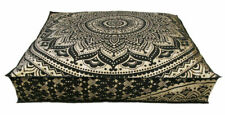 """35"""" Mandala Ottoman Cushion Floor Pillow Case Indian Square Seating Cover Pouf"""