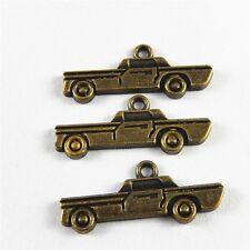 Antiqued Bronze Alloy Auto Car Shape Pendants Charms Jewelry Making 38pcs