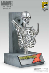 Sideshow Exclusive Weapon X Bust SDCC Wolverine Skeleton Statue X-Men Comics