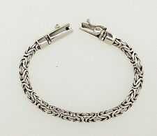 "Z in Argento BIZANTINA BRACCIALE ORIGINALI ARGENTO STERLING 8.0"" 5 mm 22gm Unisex"
