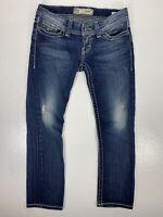 Buckle BKE Denim Stella Crop Womens Size 27 Jeans Stretch Distressed