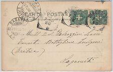 47675 - ITALIA  REGNO - Storia Postale:  CARTOLINA a SAGANETI Eritrea 1901
