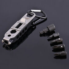 EDC Multifunctional Outdoor Pocket Tools LED Screwdriver Wrench Opener Key Chain