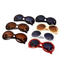 Retro-inspired Butterfly Clouds Arms Semi Tranparent Round Sunglasses Sun Glasse