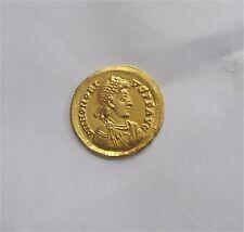 HONORIUS Emperor 395-423 Roman Empire Gold Solidus Coin Milan mint AU