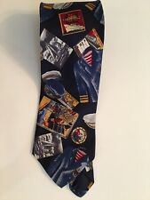 Vintage Mod 100% Silk BROOKS BROTHERS Nautical Theme Necktie Tie. Real Beauty