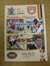 18/10/1992 programma Rugby League: BRADFORD Northern V HULL KINGSTON ROVERS. Thi