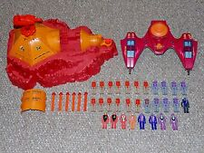 1980s Hasbro Air Raiders Command Outpost Twin Lightning & 30 Figures Lot