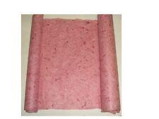 feuille de papier coton (couleur:rose avec fibres rouge) (taille:120X60cm)